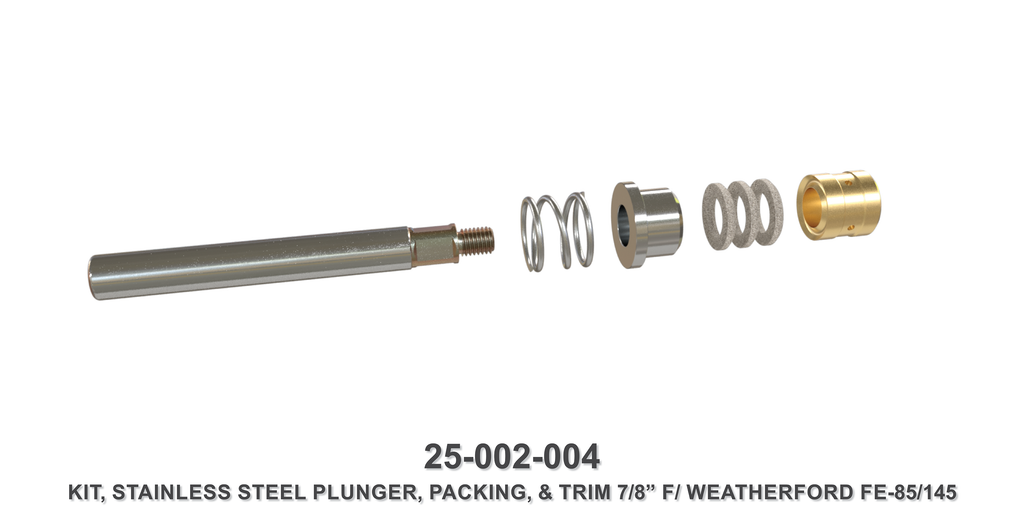 "7/8"" Stainless Steel Plunger Assembly - Weatherford Type"