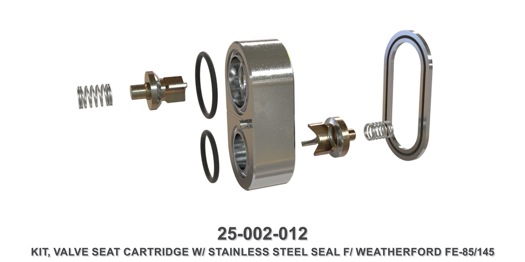 Stainless Steel Valve Seat Cartridge Kit - Weatherford Type