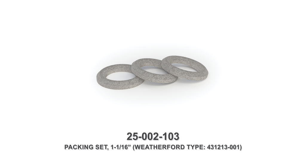 "1-1/16"" Packing Set - Weatherford Type"