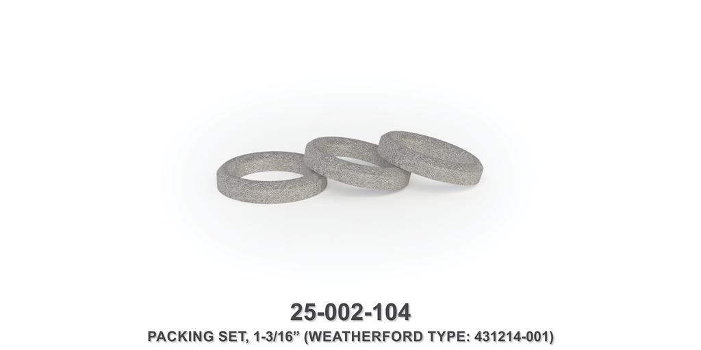"1-3/16"" Packing Set - Weatherford Type"