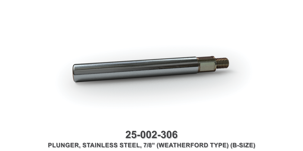 "7/8"" Stainless Steel Plunger - Weatherford Type"