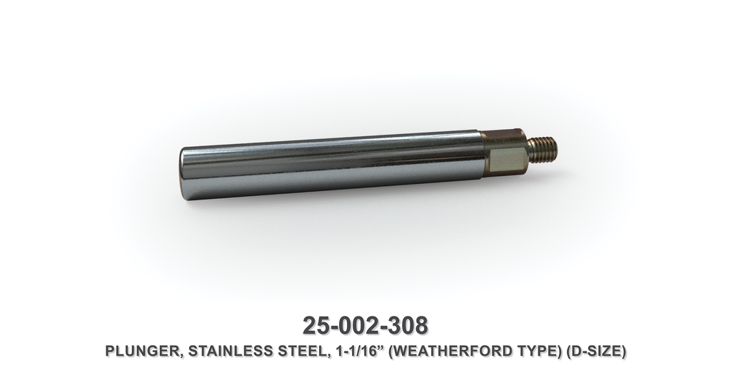 "1-1/16"" Stainless Steel Plunger - Weatherford Type"