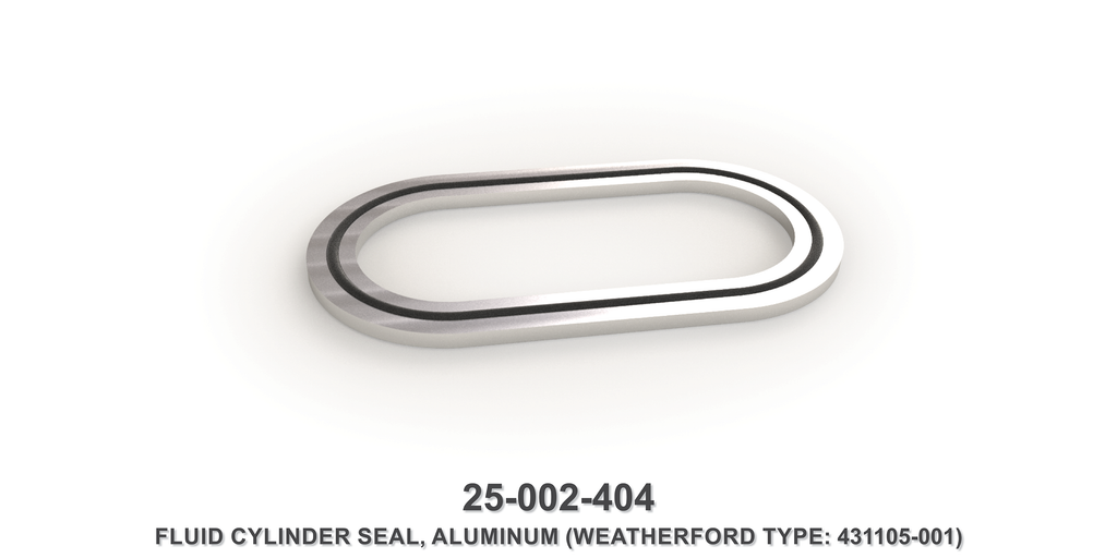 Aluminum Fluid Cylinder Seal - Weatherford Type