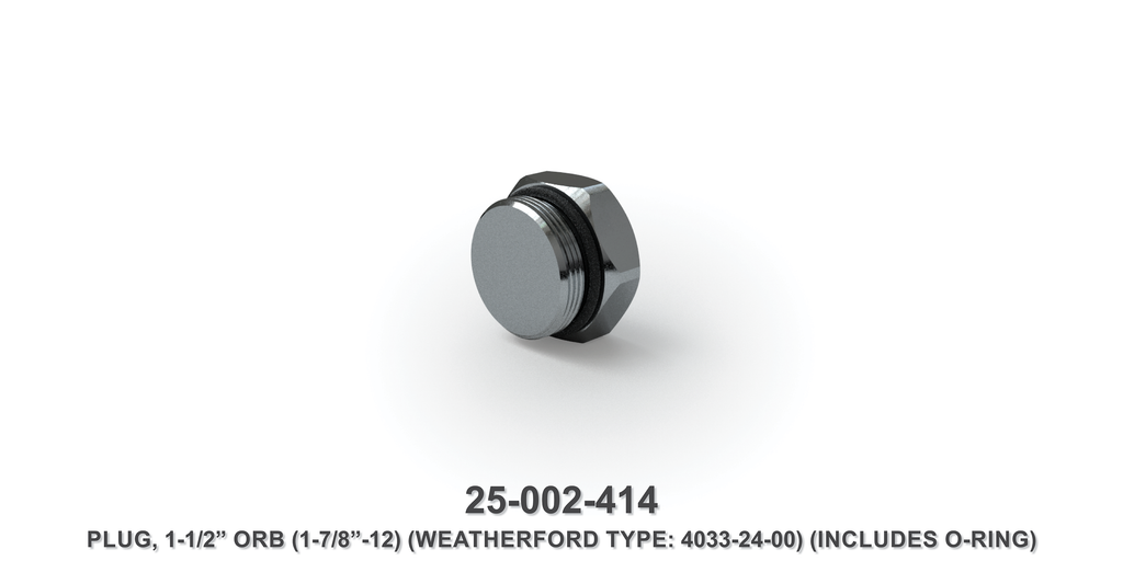 "1-1/2"" Orb Plug - Weatherford Type"