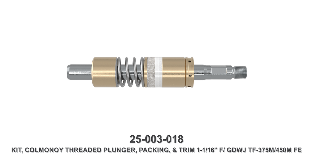 "1-1/16"" Colmonoy Threaded Plunger Kit - Gardner Denver / Butterworth Type"