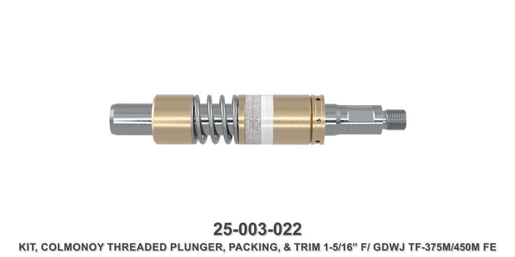 "15K 1-5/16"" TF-375M/450M Colmonoy Threaded Plunger Kit - Gardner Denver / Butterworth Type"