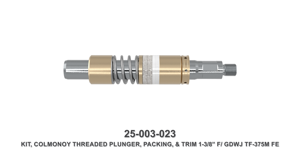 "15K 1-3/8"" TF-375M Colmonoy Threaded Plunger Kit - Gardner Denver / Butterworth Type"