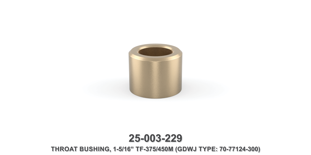 "15K 1-5/16"" TF-375M/450M Throat Bushing - Gardner Denver / Butterworth Type"