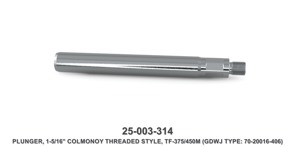 "15K 1-5/16"" TF-375M/450M Colmonoy Threaded Style Plunger - Gardner Denver / Butterworth Type"