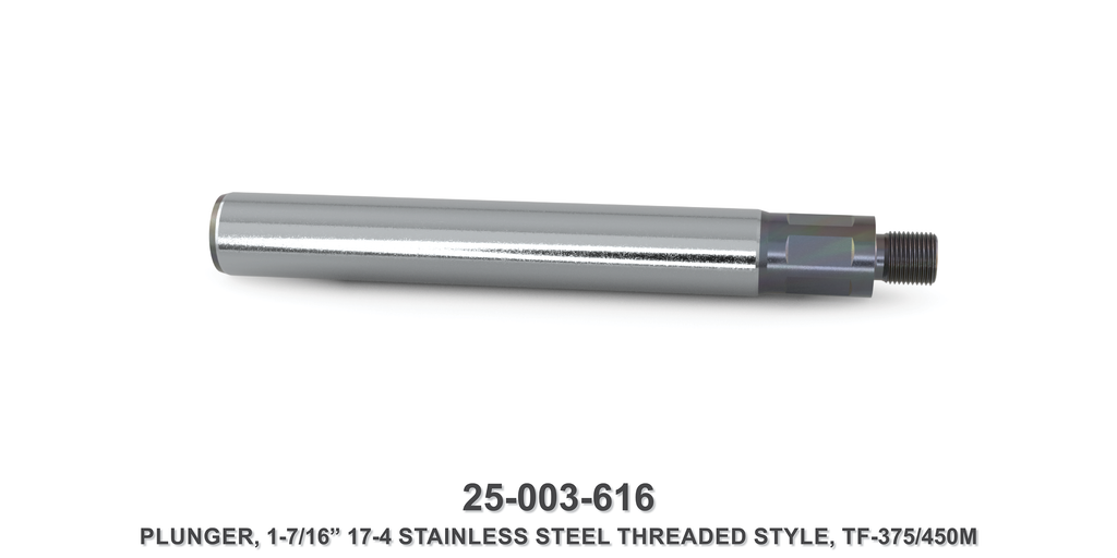 "15K 1-7/16"" TF-375M/450M Stainless Steel Threaded Style Plunger - Gardner Denver / Butterworth Type"