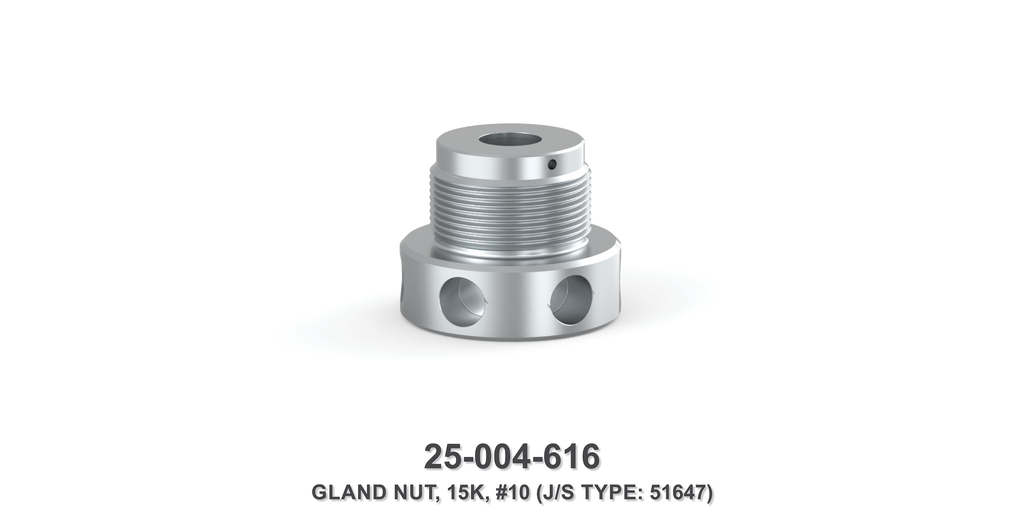 15K Gland Nut - Size 10 Plunger - Jetstream Type