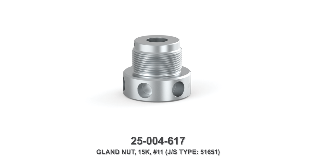 15K Gland Nut - Size 11 Plunger - Jetstream Type