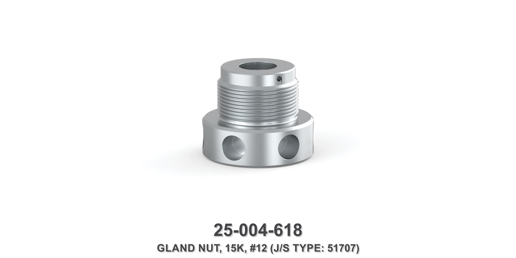 15K Gland Nut - Size 12 Plunger - Jetstream Type