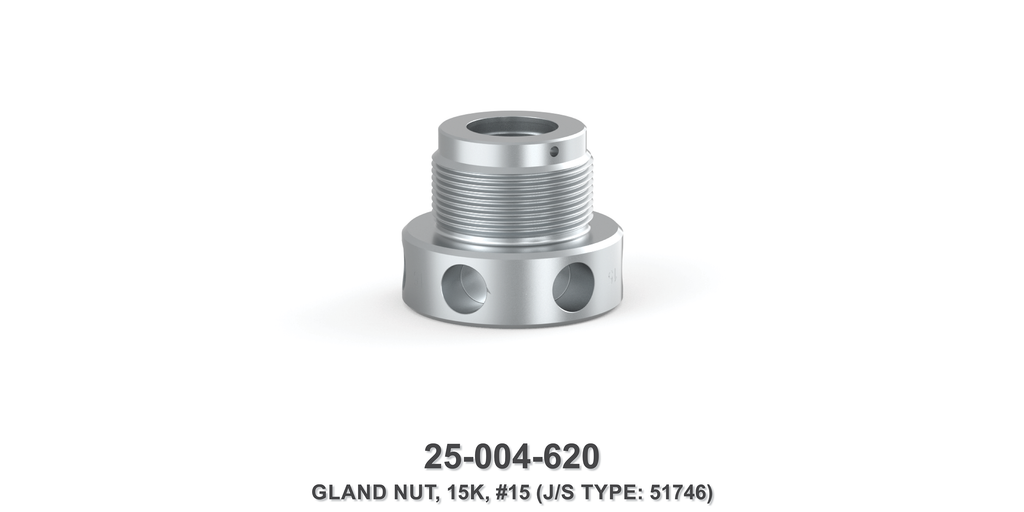15K Gland Nut - Size 15 Plunger - Jetstream Type