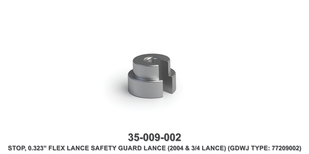 "0.323"" Flex Lance Safety Guard Lance Stop"