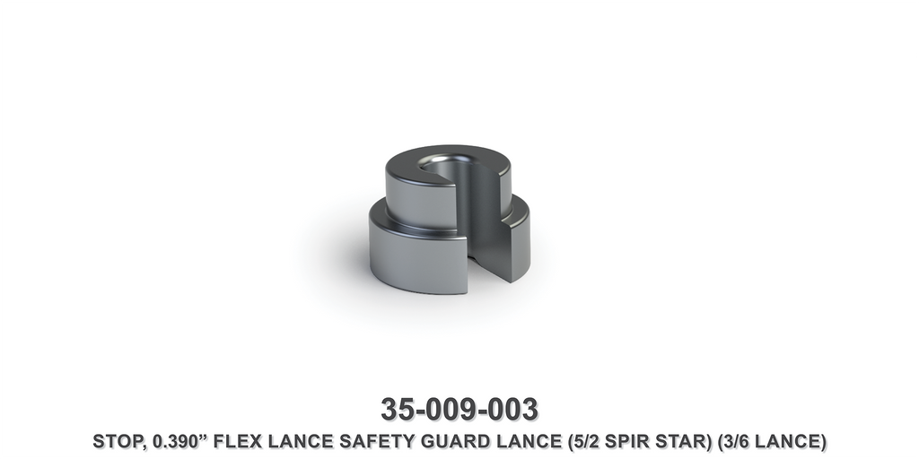 "0.390"" Flex Lance Safety Guard Lance Stop"