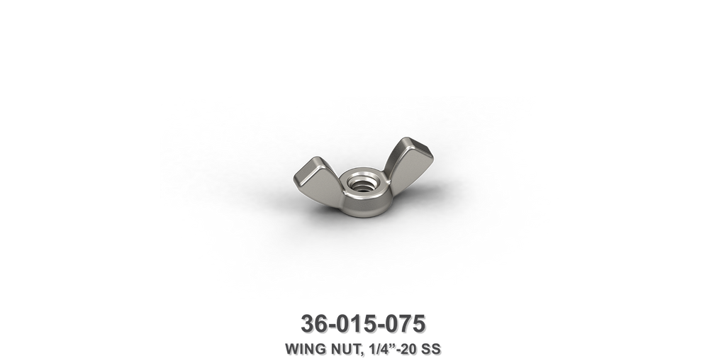 "1/4""-20 Stainless Steel Wing Nut"