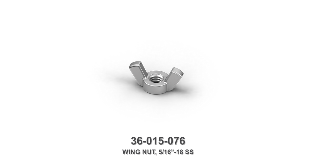 "5/16""-18 Stainless Steel Wing Nut"