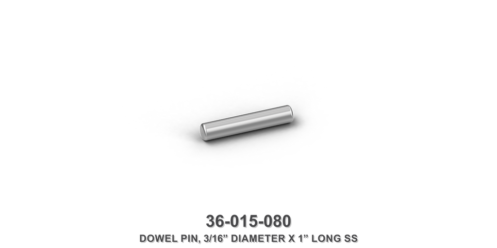 "3/16"" Diameter x 1"" Long Stainless Steel Dowel Pin"