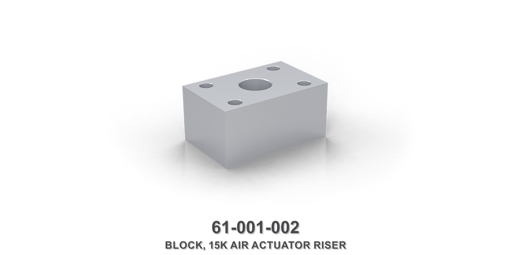 15K Air Actuator Riser Block