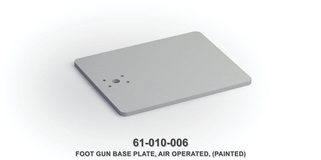 Air Operated Foot Gun Base Plate (Painted)