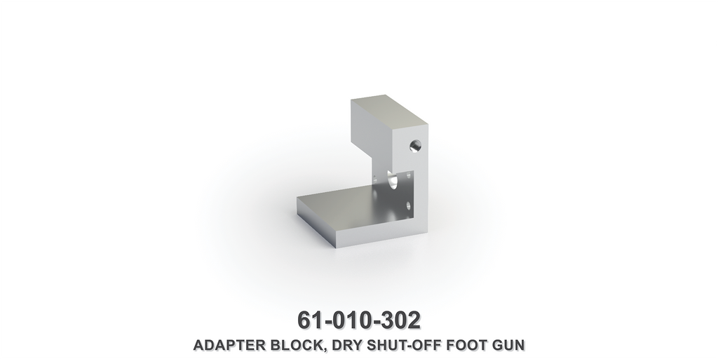 Dry Shut-Off Foot Gun Adapter Block