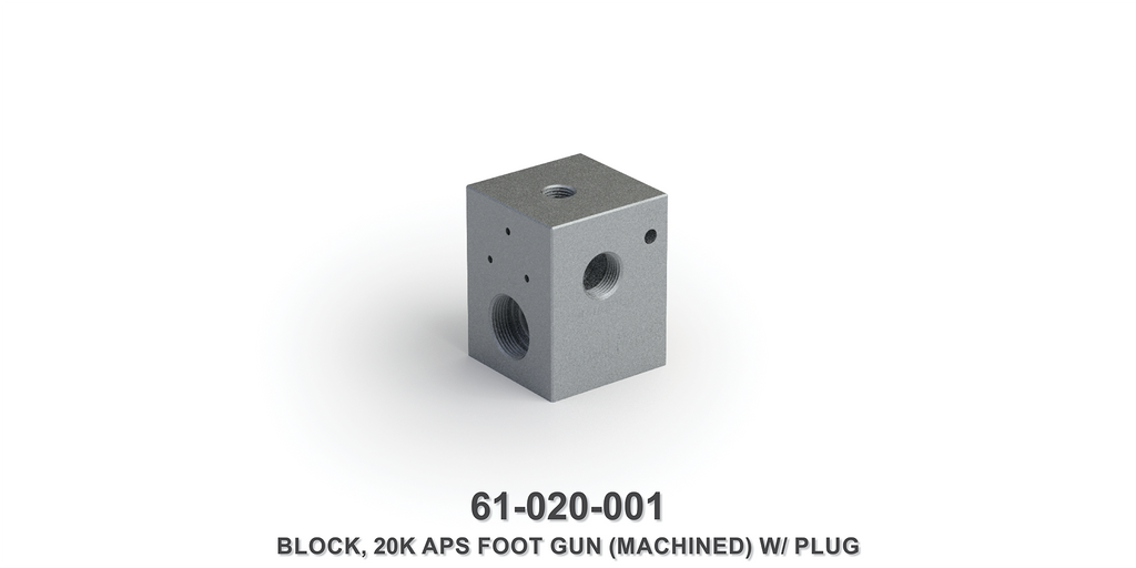 20K Foot Gun Machined Block with Plug