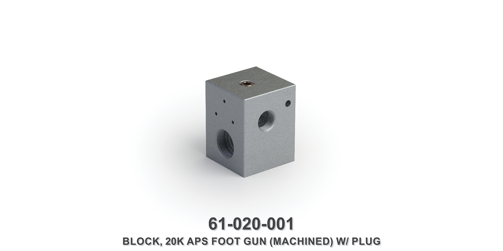 Machined 20K Foot Gun Block with Plug