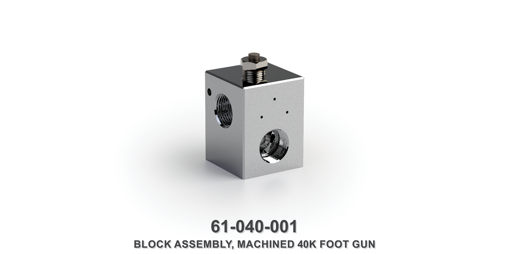 Machined 40K Foot Gun Block Assembly