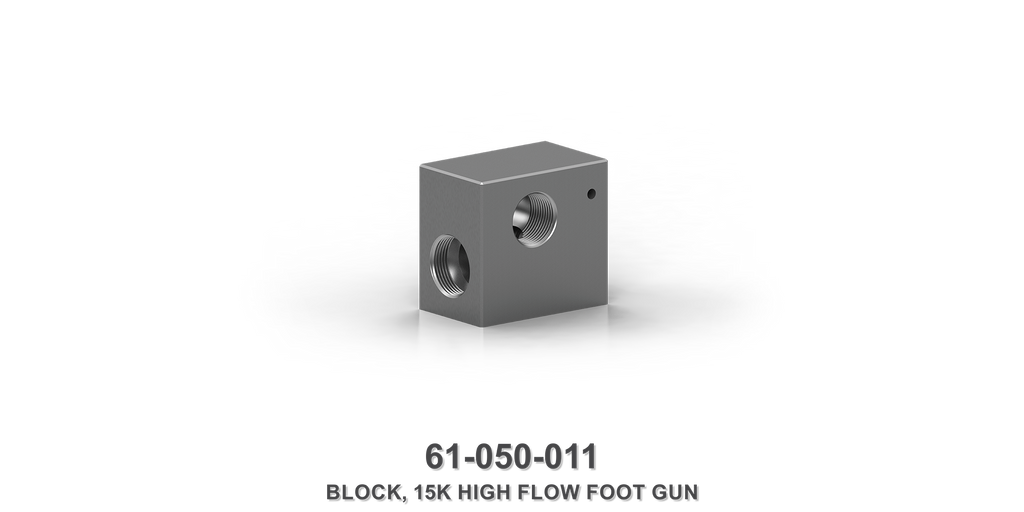 15K High Flow Foot Gun Block