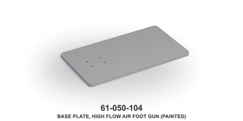 High Flow Air Foot Gun Base Plate (Painted)