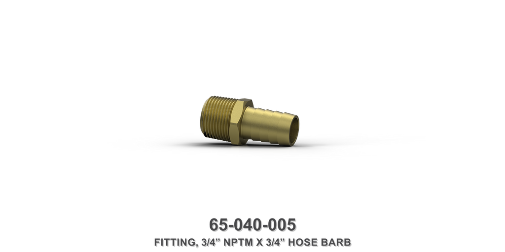 "3/4"" NPTM x 3/4"" Hose Barb Fitting"