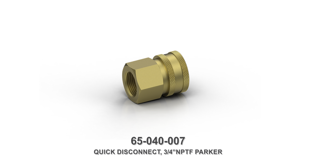 "3/4"" NPTF Parker Quick Disconnect"