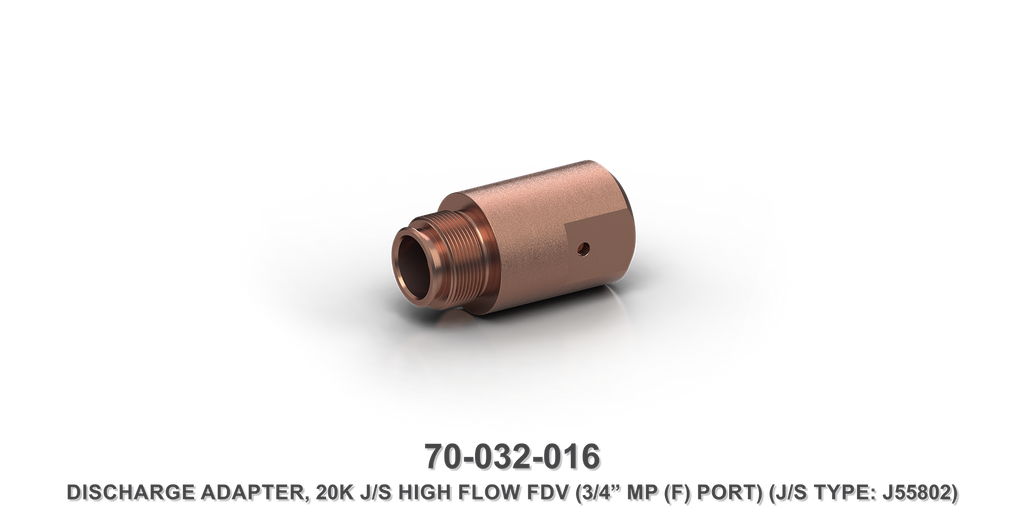 "20K 3/4"" MPF High Flow Flow Divider Valve Discharge Adapter"