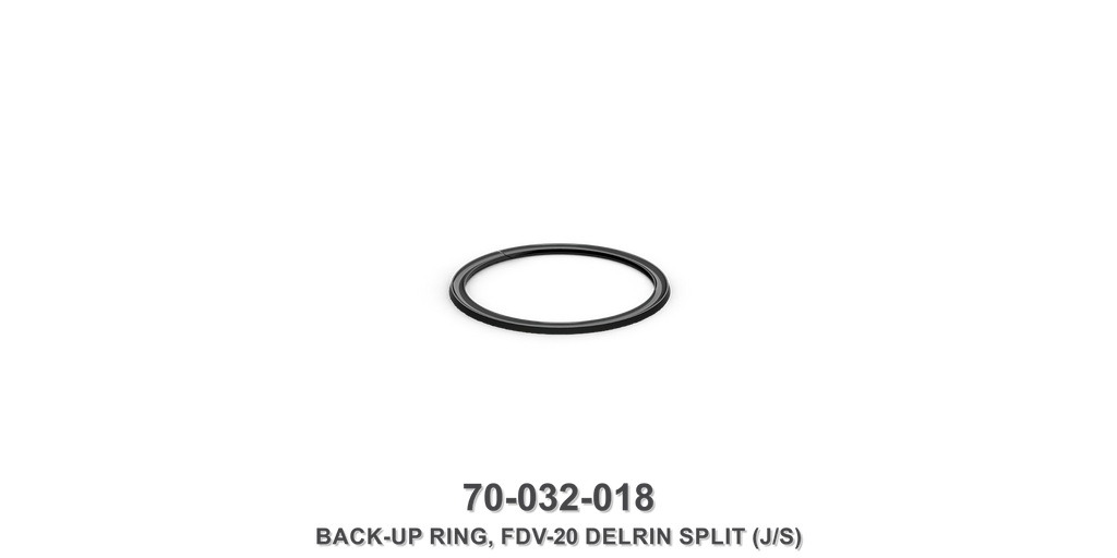 FDV-20 Delrin Split Back-Up Ring