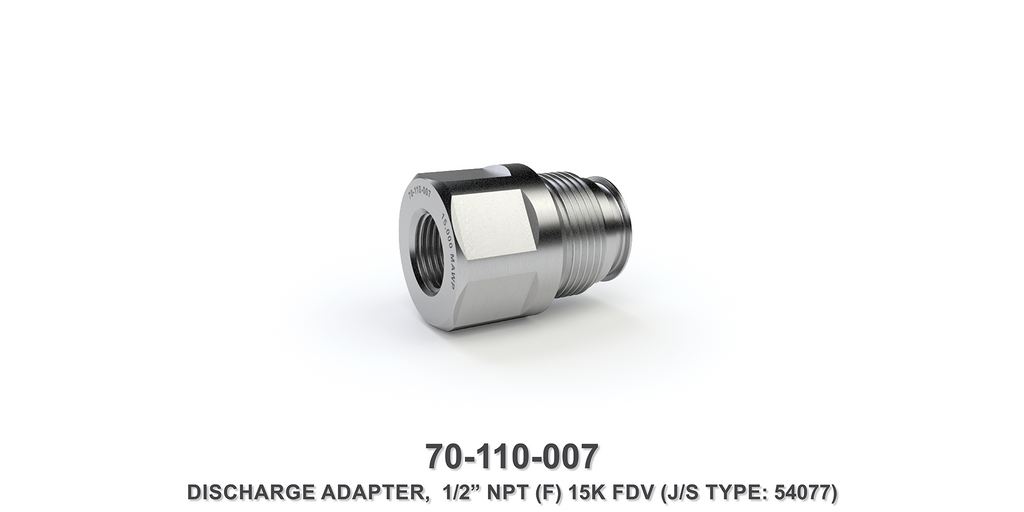 "15K 1/2"" NPTF Flow Divider Valve Discharge Adapter"