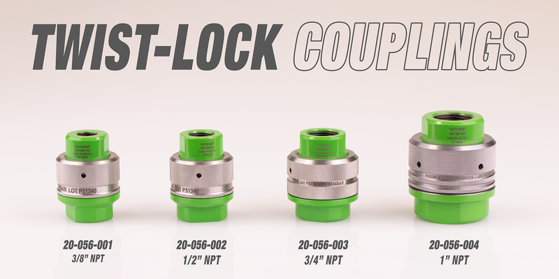 TWIST-LOCK QUICK DISCONNECT COUPLINGS