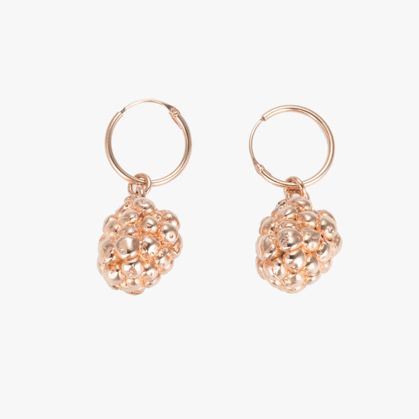 Rose Gold Blackberry Earrings