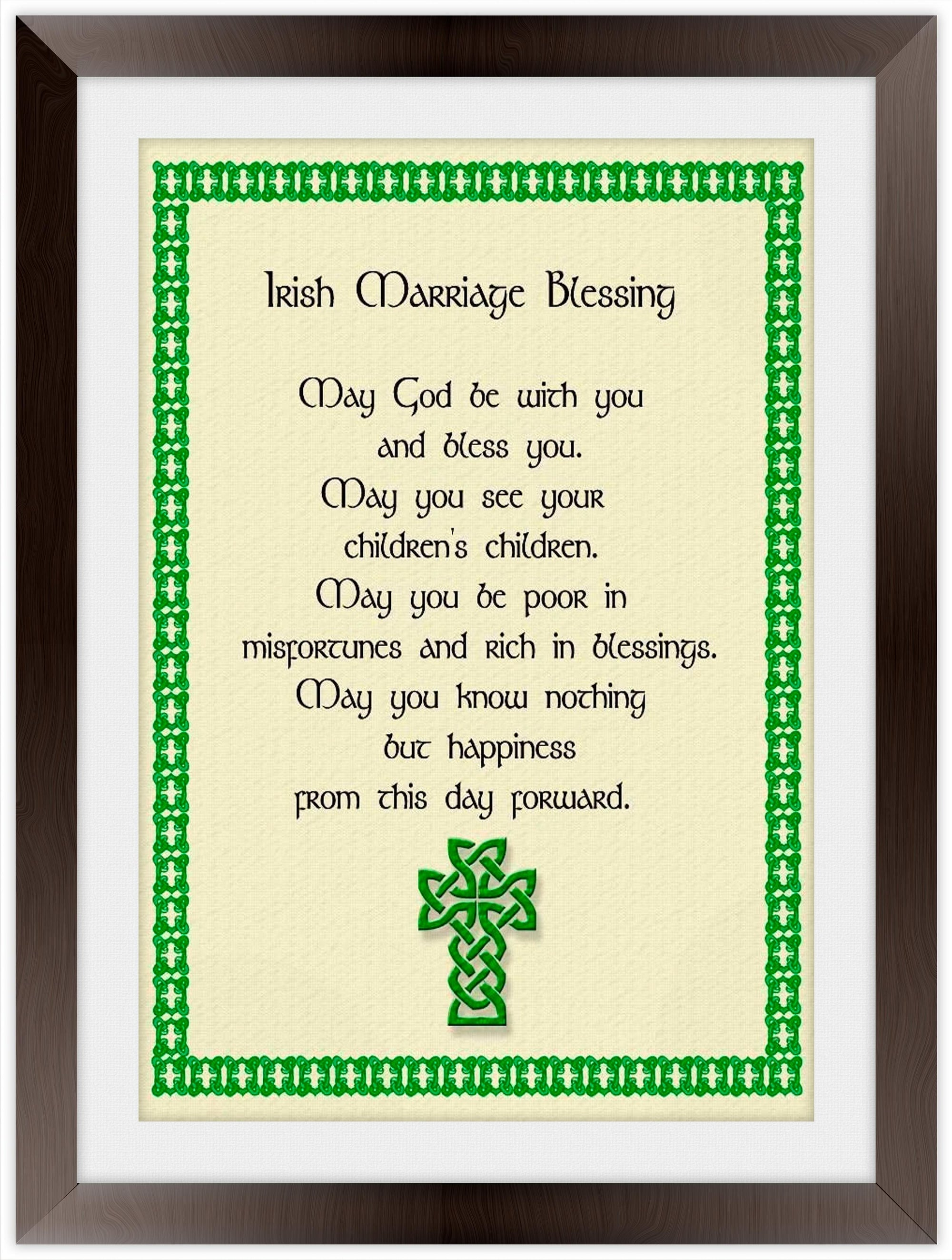Irish Blessings - Framed and Canvas Wrapped Irish Art