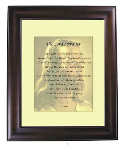 The Lord's Prayer with Cherry Frame and Mat