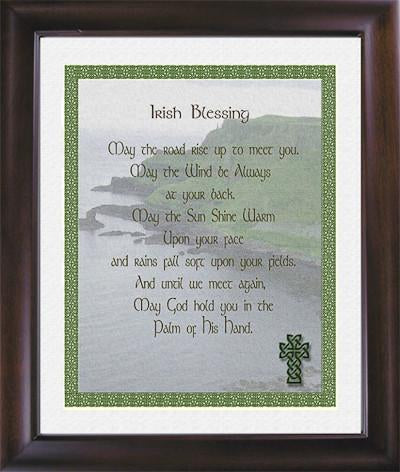 Irish Blessing with Knot Border & Ocean