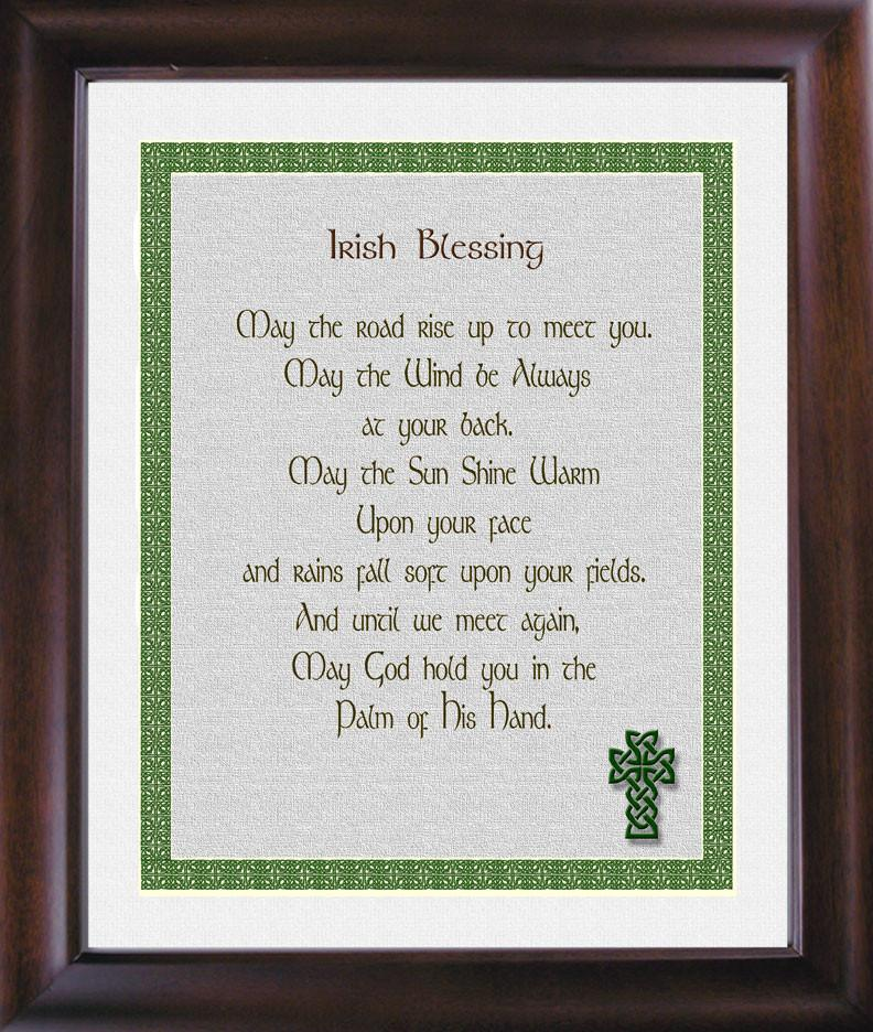 Irish Blessing with Knot Border