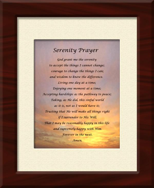 Serenity Prayer - Framed Giclee