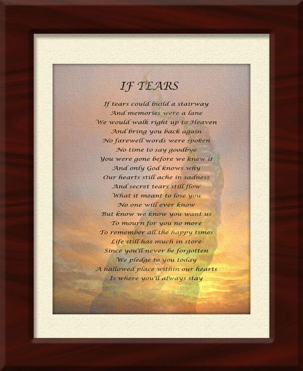 If Tears Could Build a Stairway - Framed Canvas