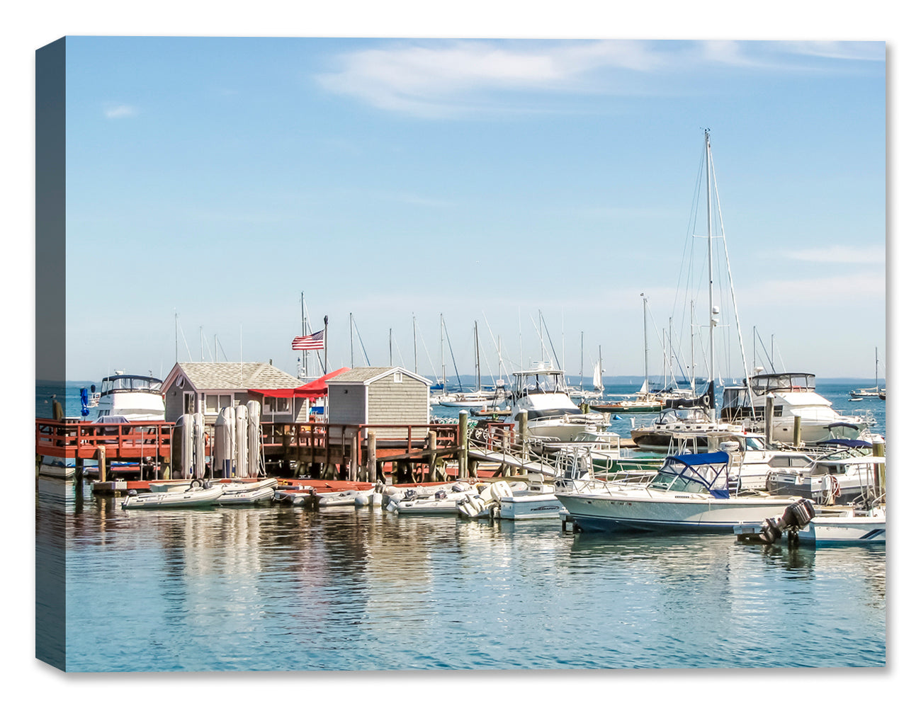 Maine Boat Dock - Canvas Art Print