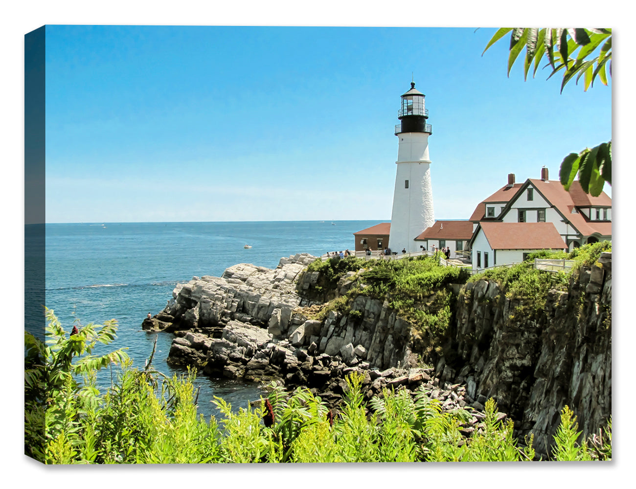 Maine Lighthouse - Canvas Art Print
