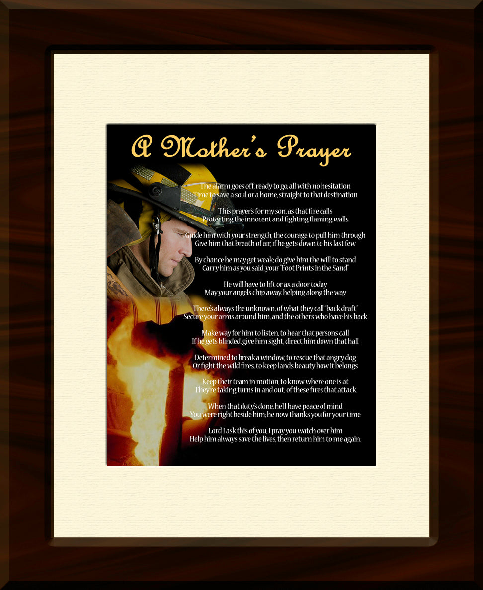 A Fireman's Prayer for a Mother