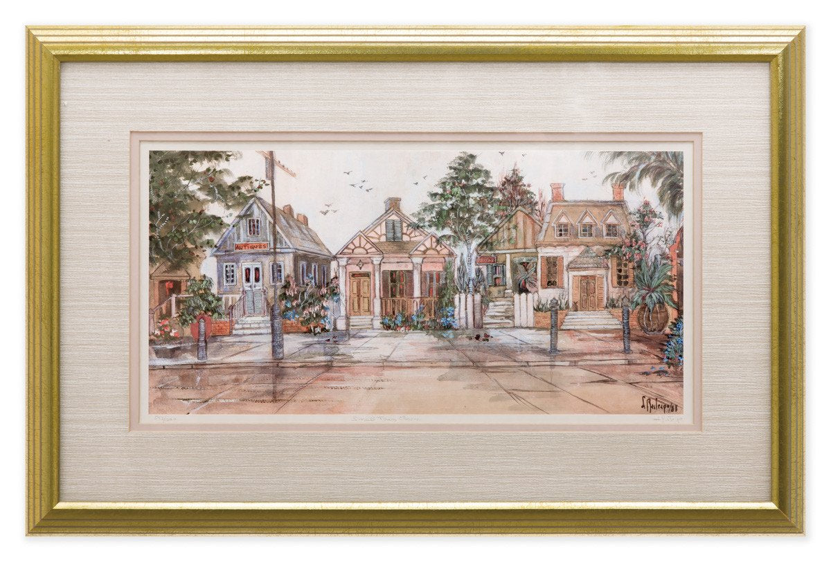 Small Town Charm - by Lucretia Restrepo - Framed Art