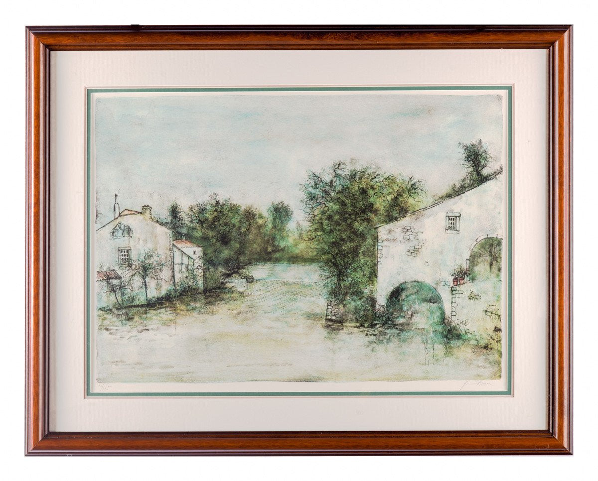 Le Vieux Moulin by Bernard Ganter - Lithograph - Framed Art