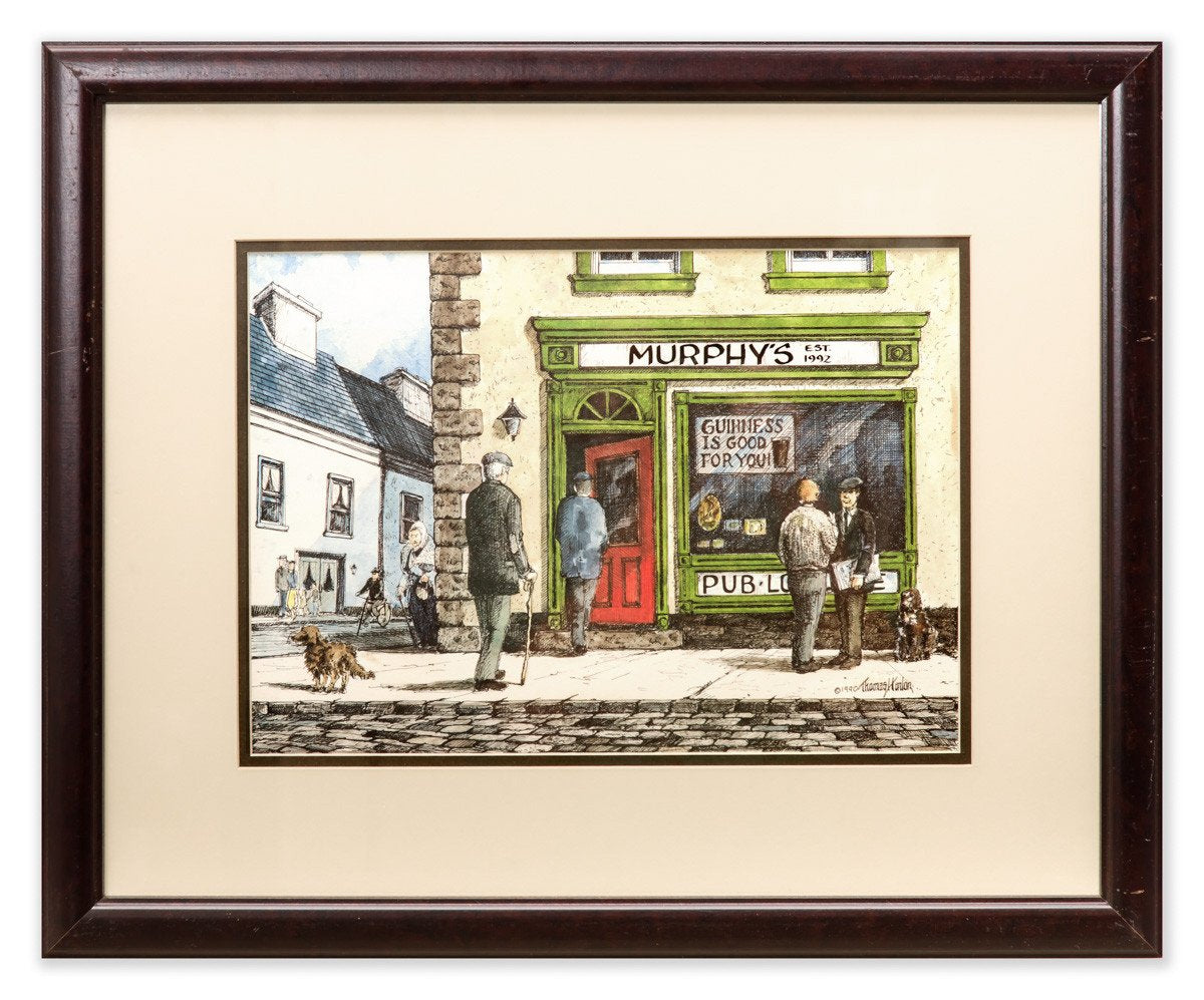 Murphy's Irish Pub - Guinness is Good for You - Framed Art